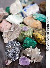 verschieden, mineralien