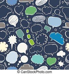verschieden, satz, wolkenhimmel, pfirsich, pattern., skizze...