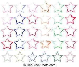 verschiedene Sterne - Vektor-Illustration von Sternen in...