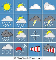 Wettersymbole - Verschiedene Wettersymbole