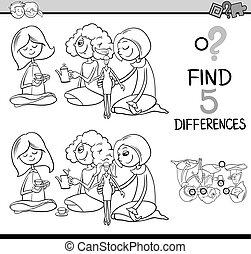 verschillen, kleuren, activiteit