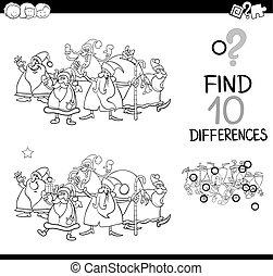 verschillen, kleuren, kerstmis