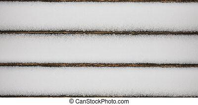 verschneiter , holzplanken, hintergrund