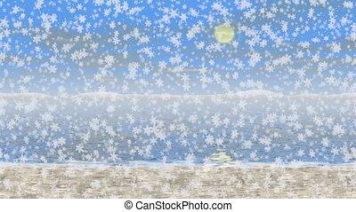 verschneiter , landschaftsbild, seamless, video