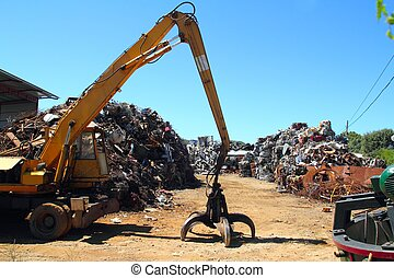 verschroten metaal, scrap-iron, ouwe rommel