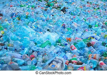 verschwendung, plastik