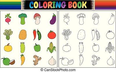 verse grostes, kleurend boek, spotprent