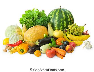 verse grostes, set, vruchten