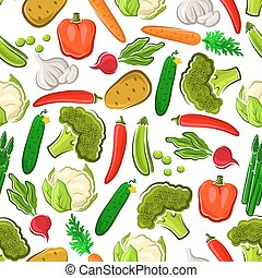 verse grostes, vegetariër, seamless, achtergrond