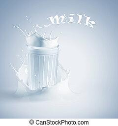 verse melk, glas