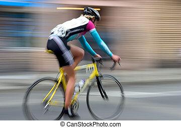 versenyfutó, #4, bicikli
