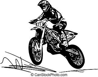 versenyfutó, motokrossz, motorkerékpár, extrém