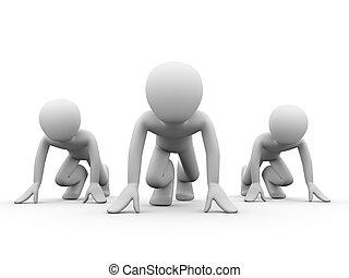 versenytárs, noha, egy, ugyanaz, chances, képben látható,...