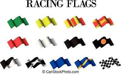 versenyzés, zászlók