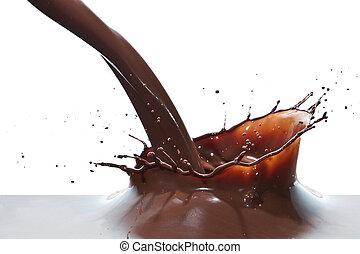 verser, chocolat
