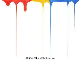 verser, couleurs, primaire