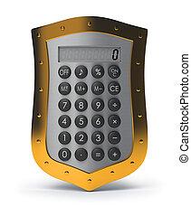 versicherung, taschenrechner