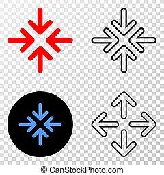 versie, punt, pijl, eps, vector, vergadering, omtrek, pictogram