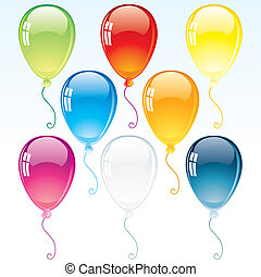 versiering, ballons, glanzend