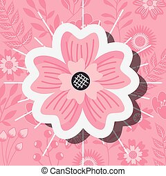 versiering, bloem, ornament, natuur