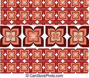 versiering, decoratief, illustratie, seamless, behang, vector, bloem
