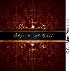 versiering, gouden, behang, seamless