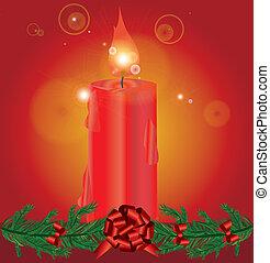 versiering, kaarsjes, kerstmis