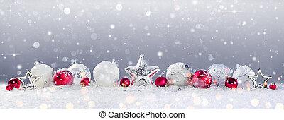 versiering, kerst baubles