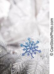 versiering, kerstmis, zilver