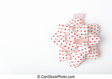 versiering, papier, punt, vastknopen, lint, rood