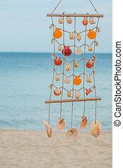 versiering, shellfish, strand, stijl
