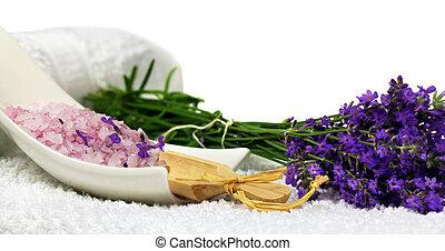 versiering, spa, lavendel