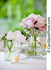 versiering, tafel, trouwfeest, reeks