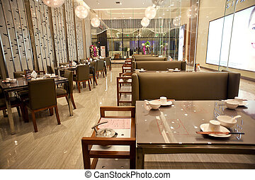 versiering, upscale, restaurant