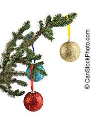 versiering, witte , vrijstaand, kerstmis