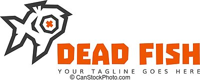 versione, fish, poly, 2, studio, basso, logotipo, 2., morto, colors.