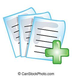 verslag, patiënt, pictogram