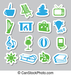 verslappen, stickers