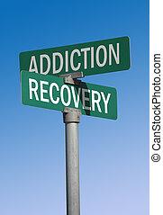 verslaving, herstel, meldingsbord