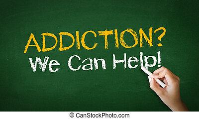 verslaving, wij, groenteblik, helpen, krijt, illustratie