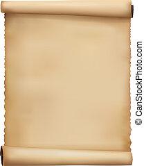 versleten, papier, oud, vector., achtergrond.