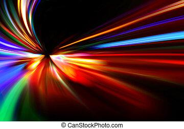 versnelling, motie, abstract, snelheid, nacht