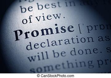versprechen