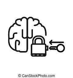 verstand, ontwerp, het openen, illustratie