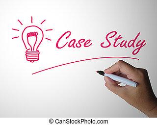 versuch, text, reisekoffer, shows, -, studieren, fehler, ...