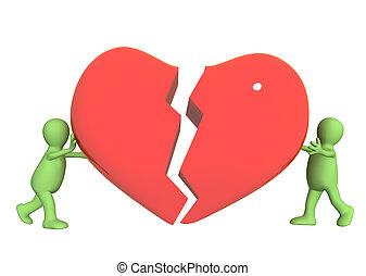 versuch, zu, rettung, liebe