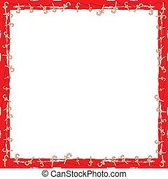versuikeren, frame, kerstmis, grunge