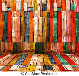 versuikeren, kleur, oud, hout, kamer, achtergrond