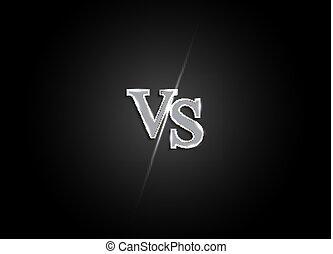 Versus letters figh background. Vector Illustration EPS10