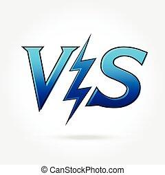Versus letters or vs logo isolated . Flat style modern logotype design vector illustration